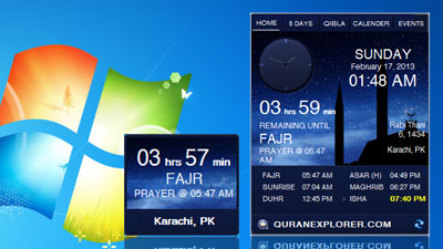 Prayers times Widget for vista & windows 7