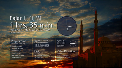Prayers times windows 8 App